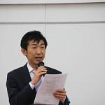 東京経営研究会4月例会司会の唐橋良幸さん